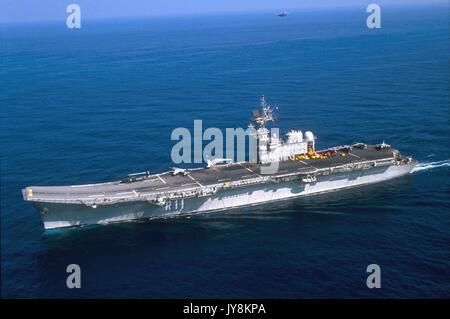 The Spanish Navy aircraft carrier Principe de Asturias in ...Spanish Aircraft Carrier Principe De Asturias