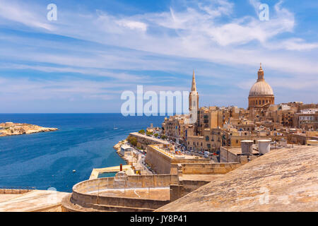 Domes and roofs of Valletta , Malta - Stock Photo