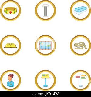 Excursion icons set, cartoon style - Stock Photo