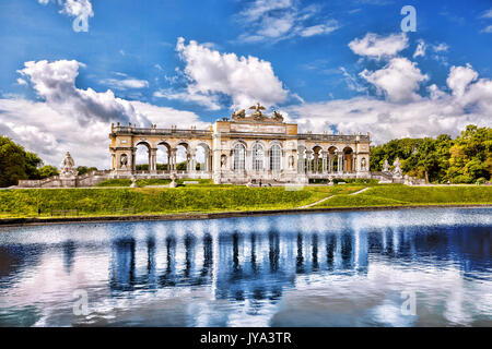 Famous Gloriette with lake in Schonbrunn Palace, Vienna, Austria - Stock Photo