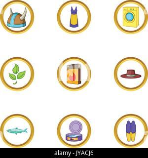 Sweden icons set, cartoon style - Stock Photo