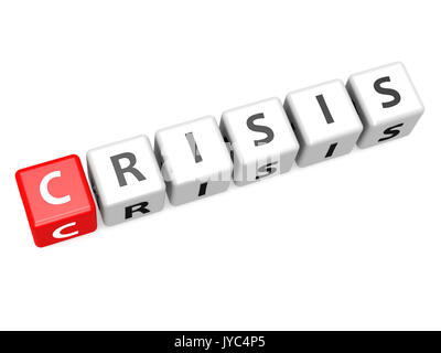 Crisis crossword image with hi-res rendered artwork that could be used for any graphic design. - Stock Photo