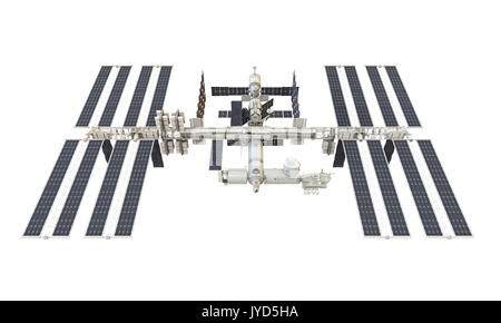 International Space Station Isolated - Stock Photo
