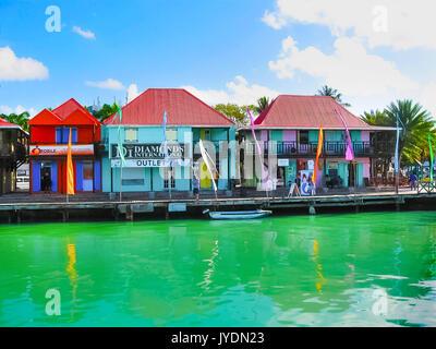 St. John's, Antigua and Barbuda - February 07, 2013: St John's, chief port of the island of Antigua. - Stock Photo