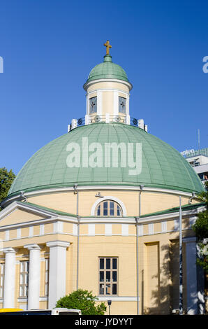 Turku, Finland - A view of the orthodox church, built in 1839-1845, in Turku near Kauppatori, the Turku square - Stock Photo