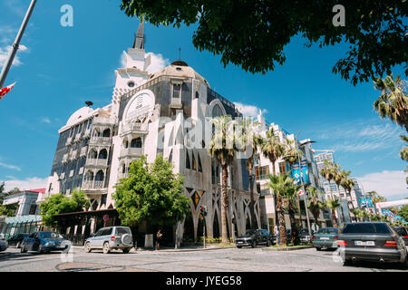 Batumi, Adjara, Georgia - May 25, 2016: The Gate To Boulevard House Is Luxury Residential Building Is Located In - Stock Photo