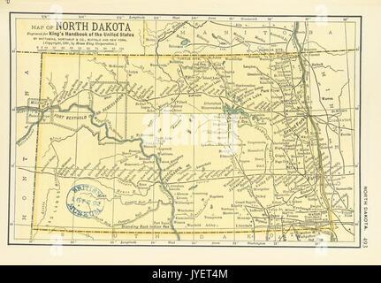 North Dakota line art map Stock Vector Art Illustration Vector
