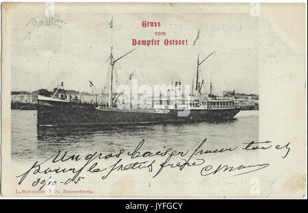 19051030 swinemunde dampfer ostsee - Stock Photo
