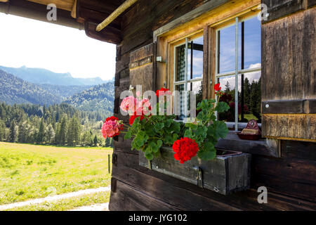 Alp Window, Upper Bavaria, Germany - Stock Photo