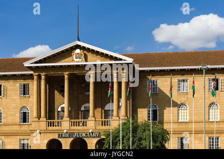 The Supreme Court Judiciary building from KICC square, Nairobi, Kenya - Stock Photo