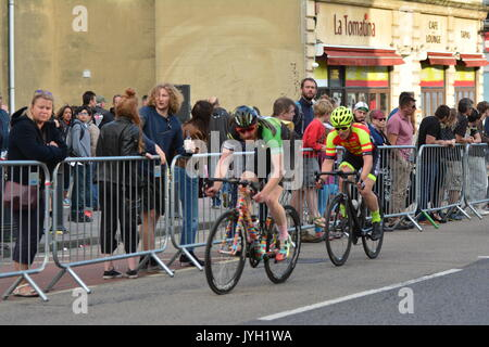 Bristol, UK. 19th Aug, 2017. Caution: EDITORIAL USE ONLY. Bristol GP cycle race around the streets of Bristol. Images - Stock Photo