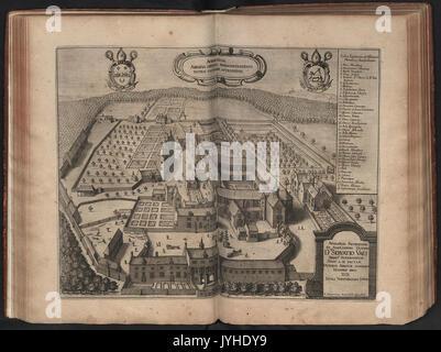 Abdij van Averbode   1659 - Stock Photo