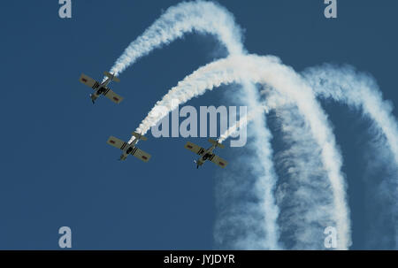 18th August 2017. The Blades aerobatic team performing at the International Air Show, all former Red Arrows pilots, - Stock Photo