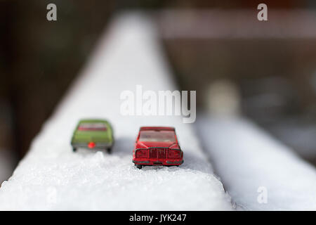 2017 365 1 Like Matchboxes Passing in the Snow (31201308104) - Stock Photo