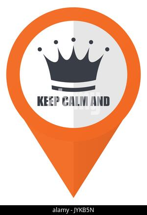 Keep Calm And Icon Flat Design Square Internet Banner Stock Photo