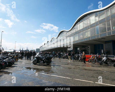 Hamburg Harley Days Biker-City-Event big motorbike motorbiker Germany - Stock Photo