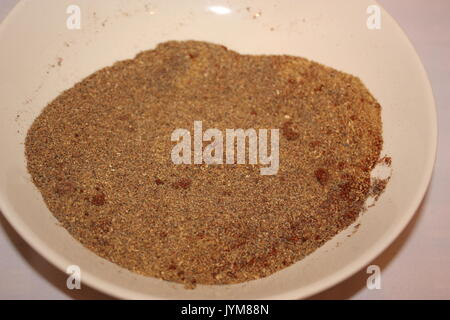 Spiced meat dry rub mix - Stock Photo