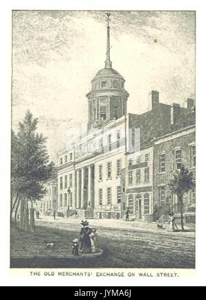 (King1893NYC) pg790 THE OLD MERCHANTS' EXCHANGE ON WALL STREET - Stock Photo