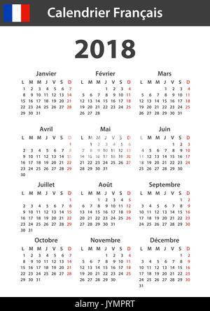 French Planner Blank For 2018 Scheduler Agenda Or Diary Template