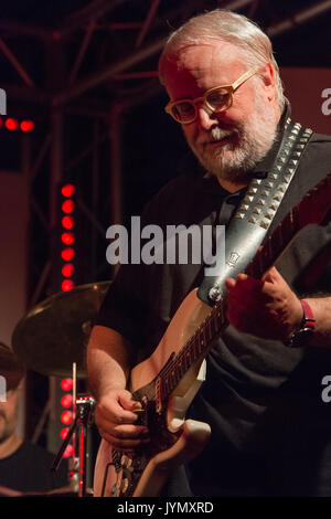 Rome, Italy. 18th Aug, 2017. The guitarist, composer, arranger, and producer performed in Rome on one of the terraces - Stock Photo