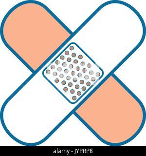 adhesive bandages icon - Stock Photo
