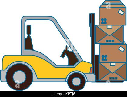 forklift truck icon - Stock Photo