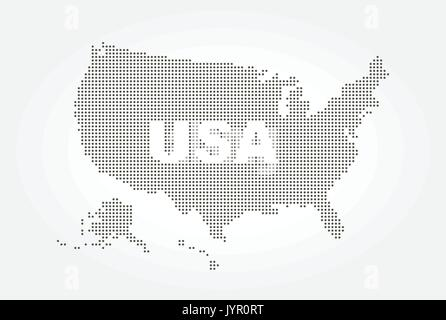 Dotted style map of USA and text . - Stock Photo