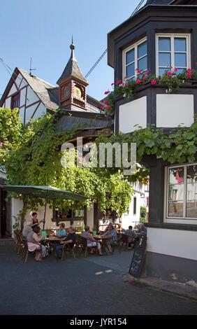 Wine festival at the wine village Winningen, Rhineland-Palatinate, Germany - Stock Photo