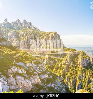 View of the Montserrat Monastery in Catalonia, near Barcelona