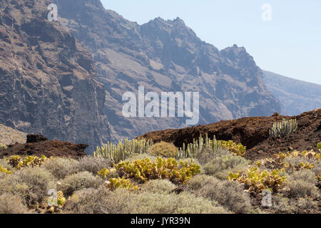 Punta de Teno, the most westerly point on Tenerife in the Canary Islands. - Stock Photo