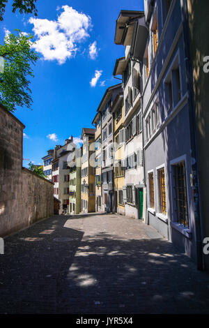 Downtown City scenes and panorama views from Zurich Switzerland - Stock Photo