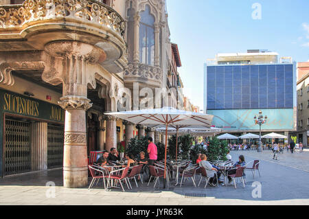 Gaudi Centre Reus, Placa Mercadal, Reus, Province of Tarragona Stock Photo, R...