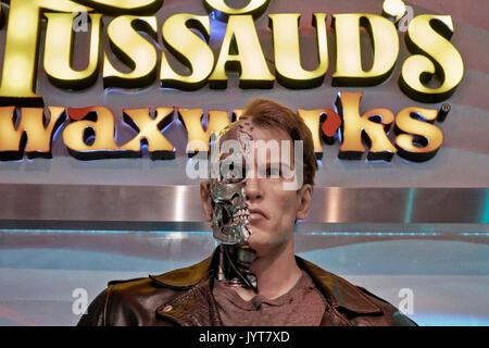 Terminator waxwork. Louis Tussauds waxworks, Pattaya, Thailand Southeast Asia - Stock Photo