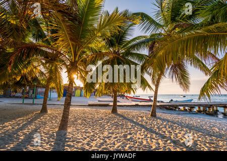 Mano Juan, Saona Island, East National Park (Parque Nacional del Este), Dominican Republic, Caribbean Sea. - Stock Photo