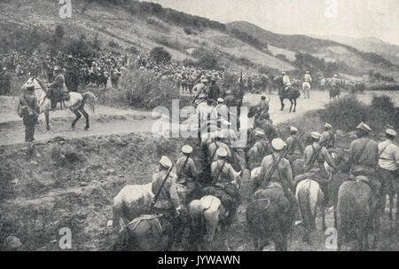 Russian Cossacks in the field, WW1 - Stock Photo