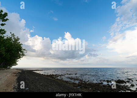 Afternoon sky at Pemuteran Beach, Bali, Indonesia - Stock Photo