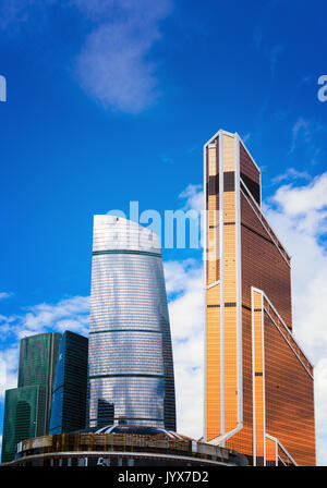 Moscow City, Russia modern city centre of skyscrapers. - Stock Photo