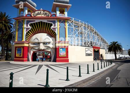 Luna Park Melbourne - Stock Photo