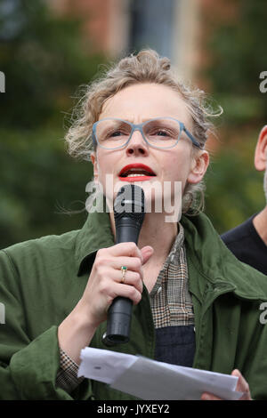 Manchester, UK. 20th Aug, 2017. Actress, Maxine Peake speaking on the anniversary of the Peterloo massacre which - Stock Photo