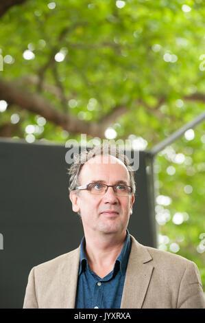 Edinburgh, UK. 21st August 2017. German author Volker Kutscher, appearing at the Edinburgh International Book Festival. - Stock Photo
