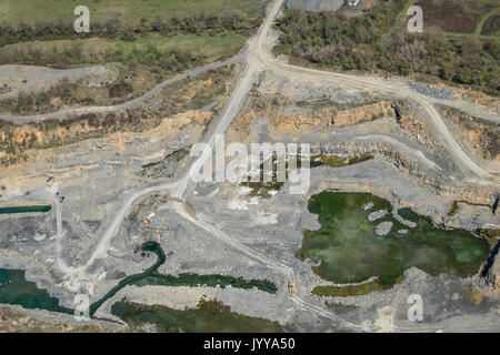 Arial View Of Quarry - Stock Photo