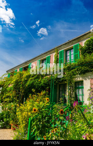 The Clos Normand house of Claude Monet in Giverny, Normandy, France - Stock Photo