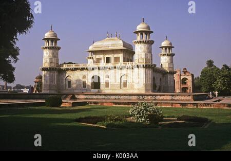Tomb of Itmad-ud-Daulah (Mini Taj or Baby Taj), Agra, India - Stock Photo