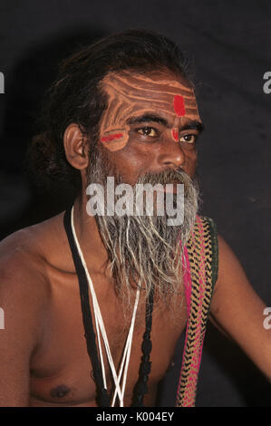 Sadhu (holy man), Varanasi (Benares, Banaras), India - Stock Photo