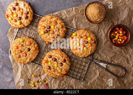 Fall cookies with candy - Stock Photo
