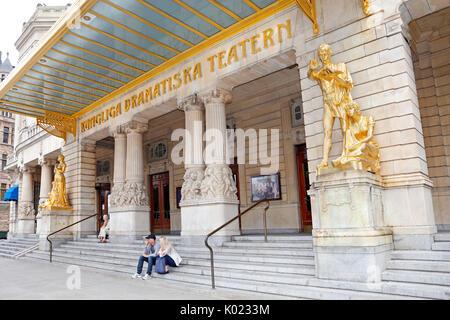 Kungliga Dramatiska Teatern (Royal Dramatic Theatre), Dramaten, Stockholm, Sweden - Stock Photo