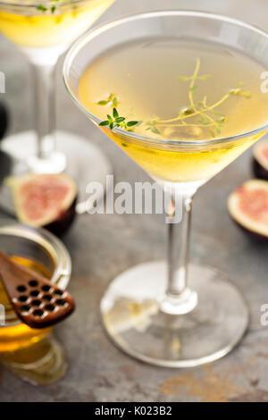 Fig and honey martini - Stock Photo