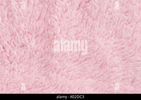 close up pink towel texture and background - Stock Photo
