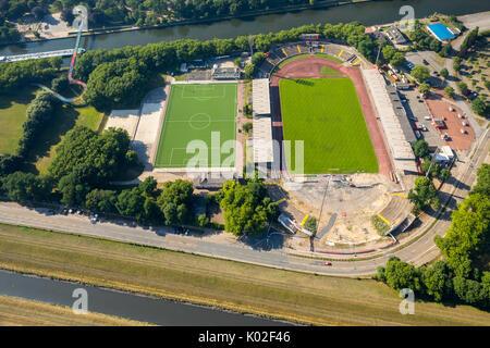 Stadion Niederrhein, new North Stand, sports and leisure facility SSB, Emscher area north of Stadiona, Oberhausen, - Stock Photo