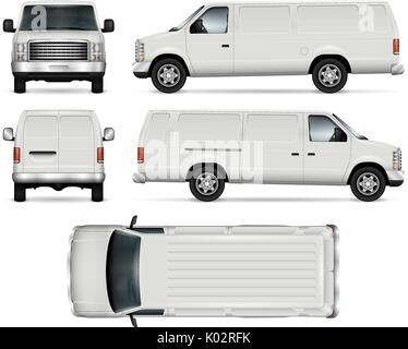 SUV car vector template for car branding and advertising. Isolated truck set on white background. All layers and - Stock Photo